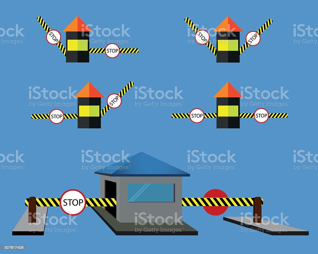 Security Check point vector art illustration