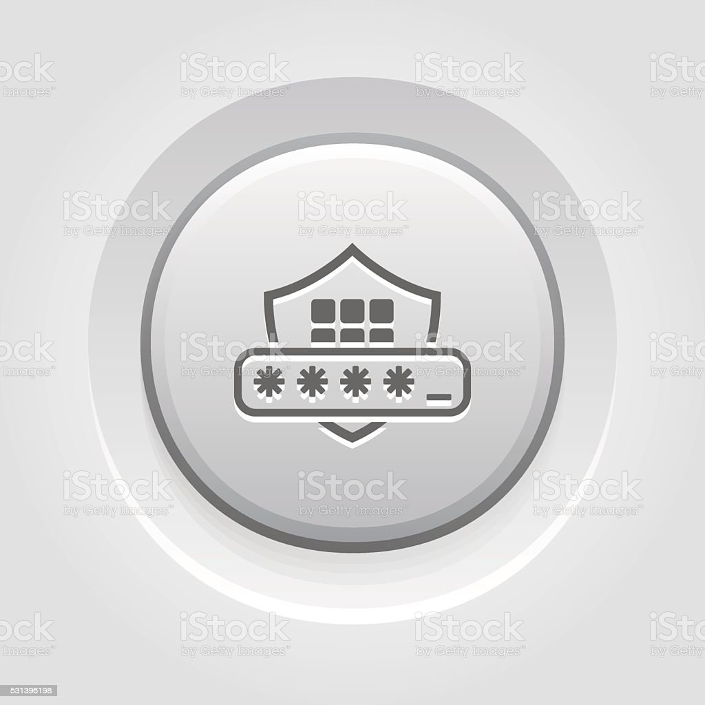 Security Code Icon vector art illustration