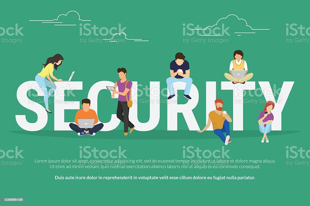 Security concept illustration vector art illustration
