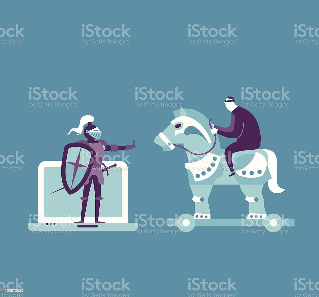 Security Concept vector art illustration