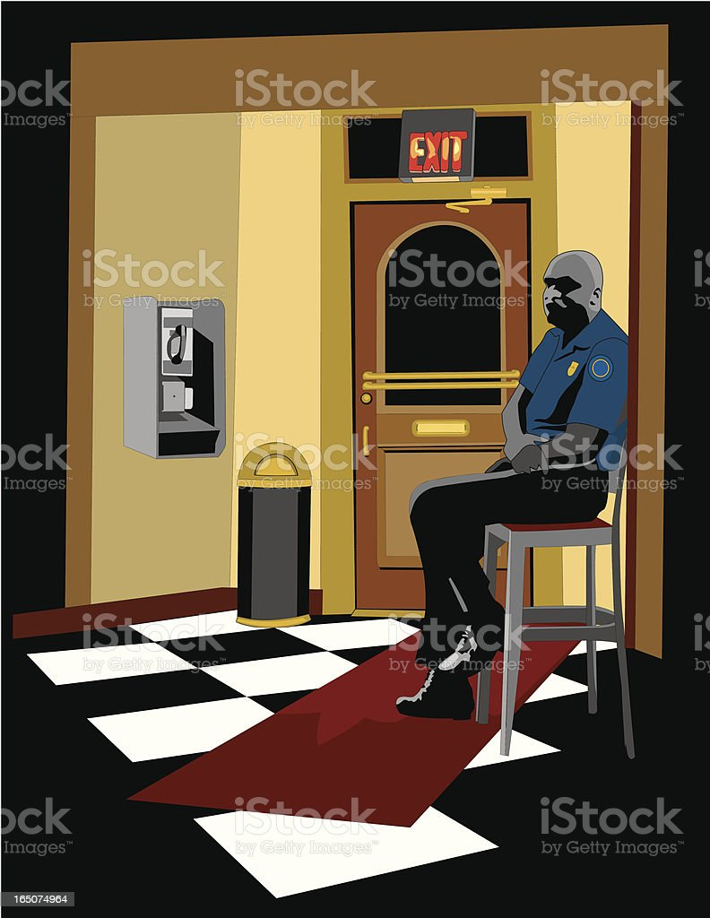 Security Guard / Bouncer vector art illustration