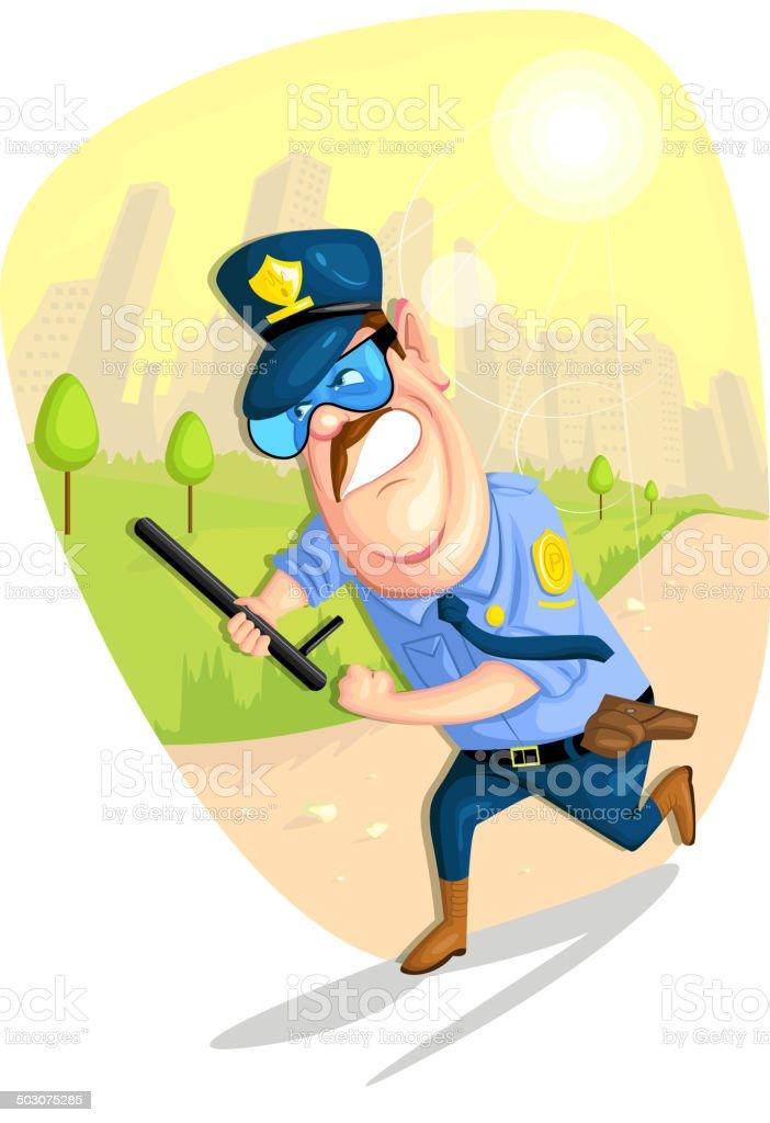 Security Guard royalty-free stock vector art