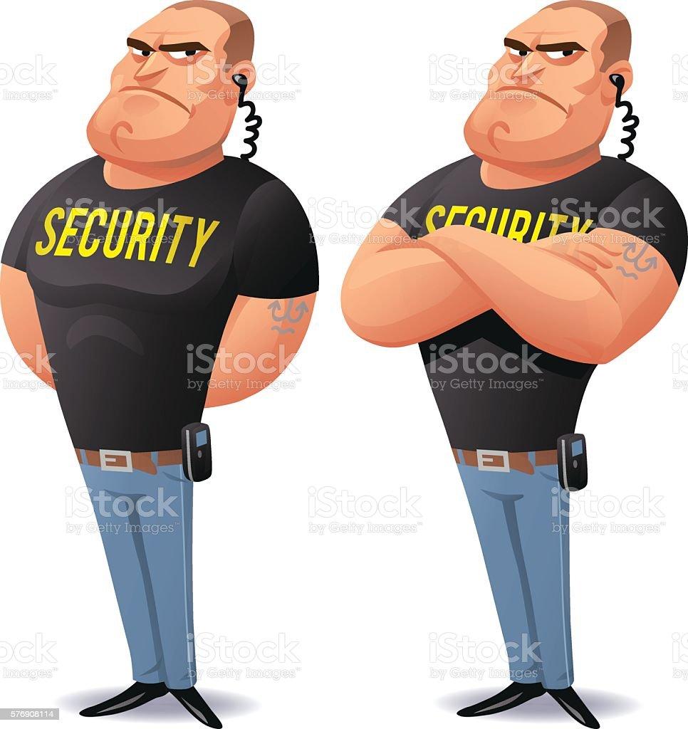 Security Guard vector art illustration