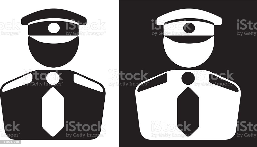 Security icon vector art illustration