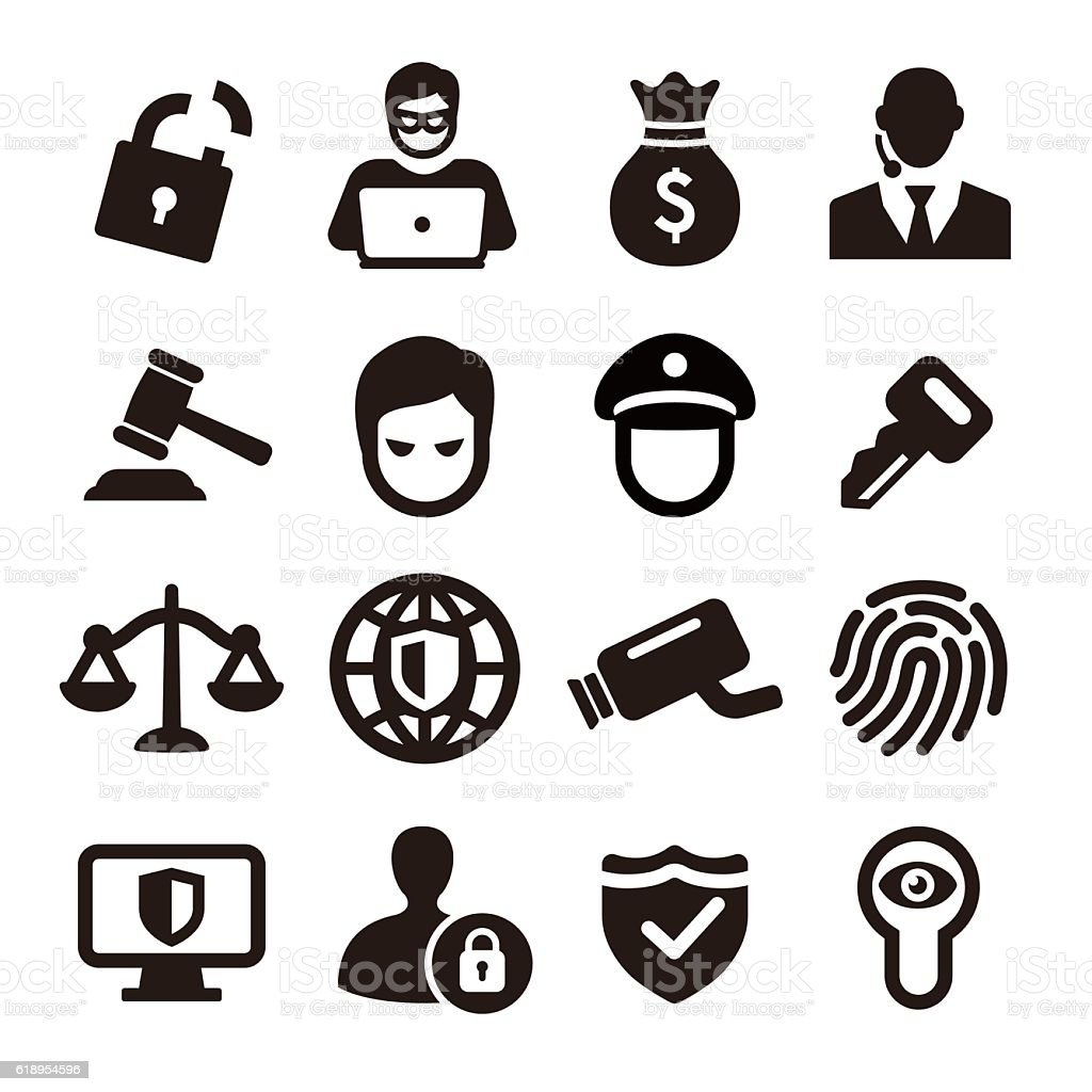 Security Icons - Acme Series vector art illustration