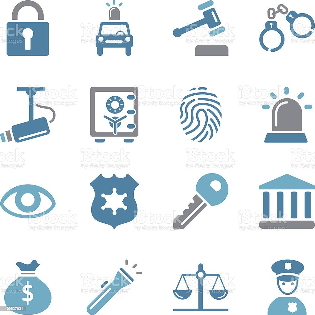 Security Icons - Color vector art illustration