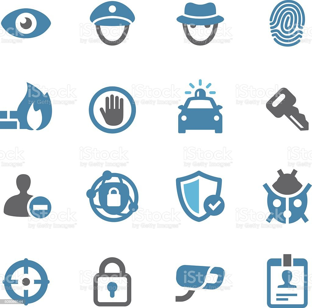 Security Icons - Conc Series vector art illustration