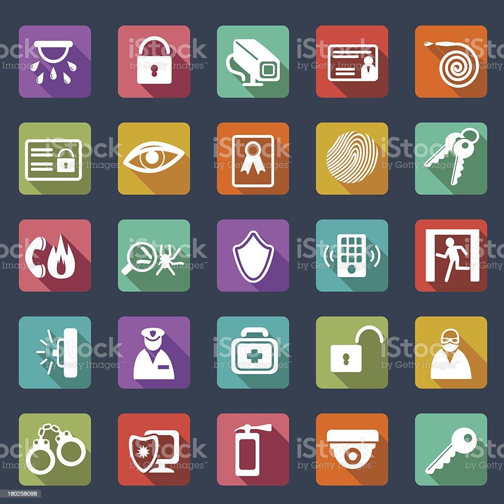 Security icons-  flat design vector art illustration