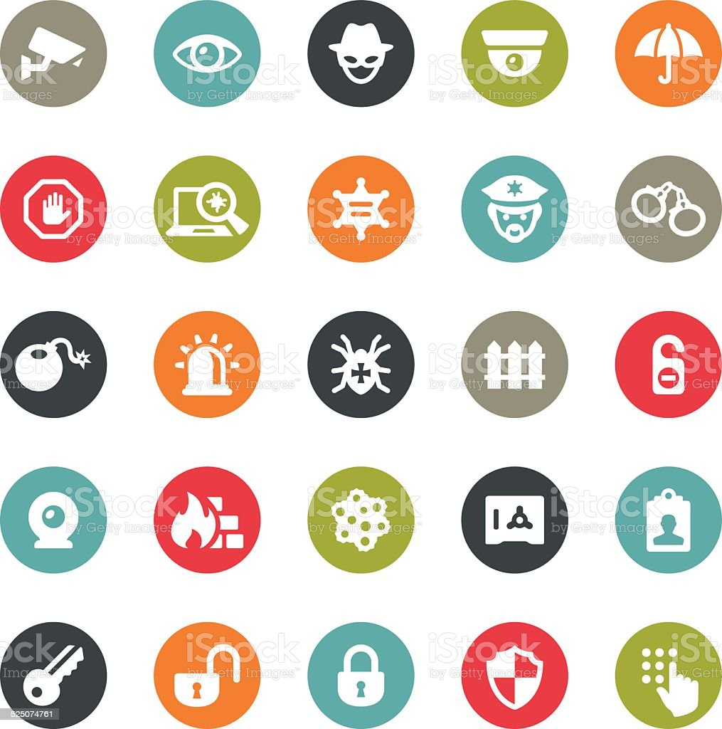 Security icons / Ringico series vector art illustration