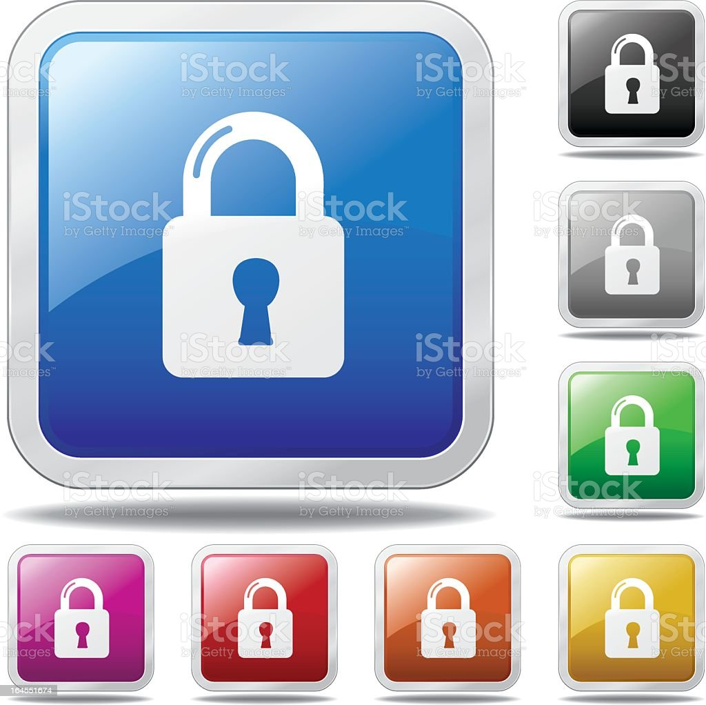 Security Lock Icon royalty-free stock vector art