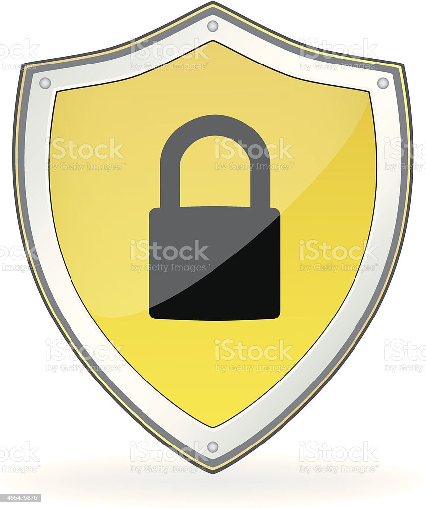 Security Lock Shield royalty-free stock vector art