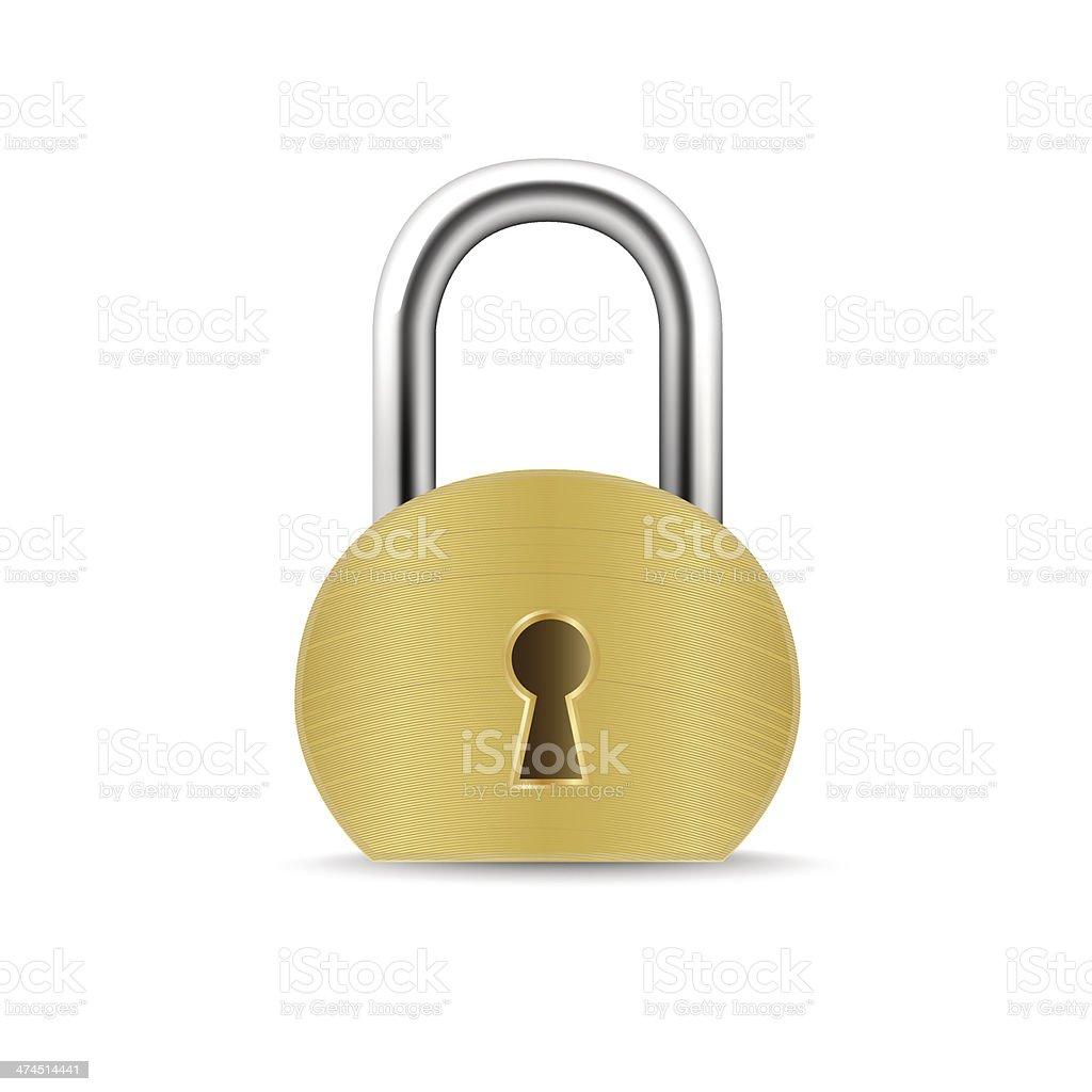 Security Padlock - Vector illustration royalty-free stock vector art