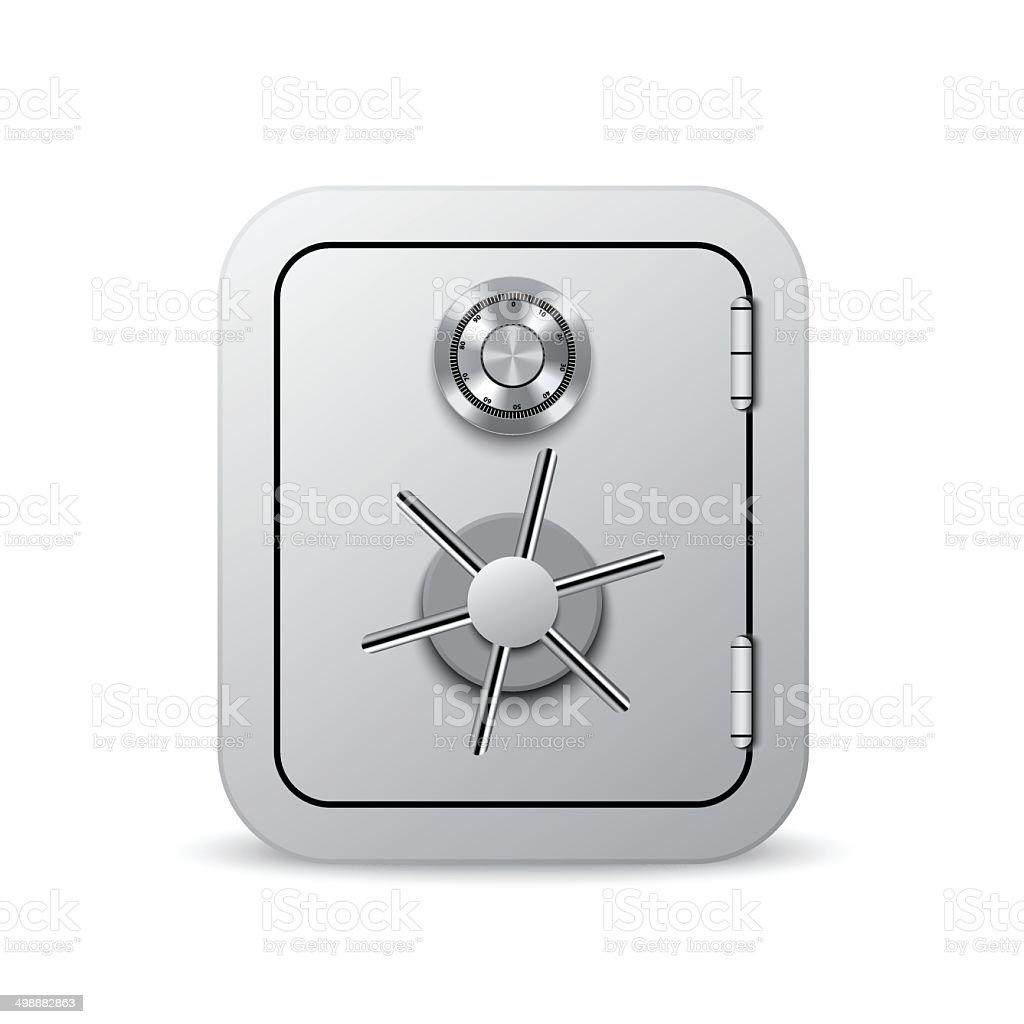 Security safe vector art illustration