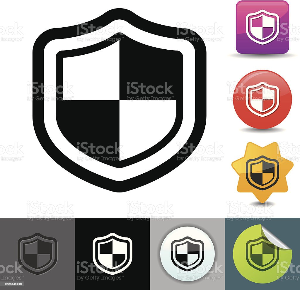 Security shield icon | solicosi series royalty-free stock vector art