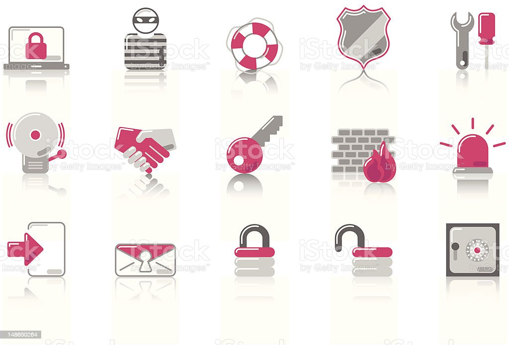 Security - SunnydayPink Series royalty-free stock vector art