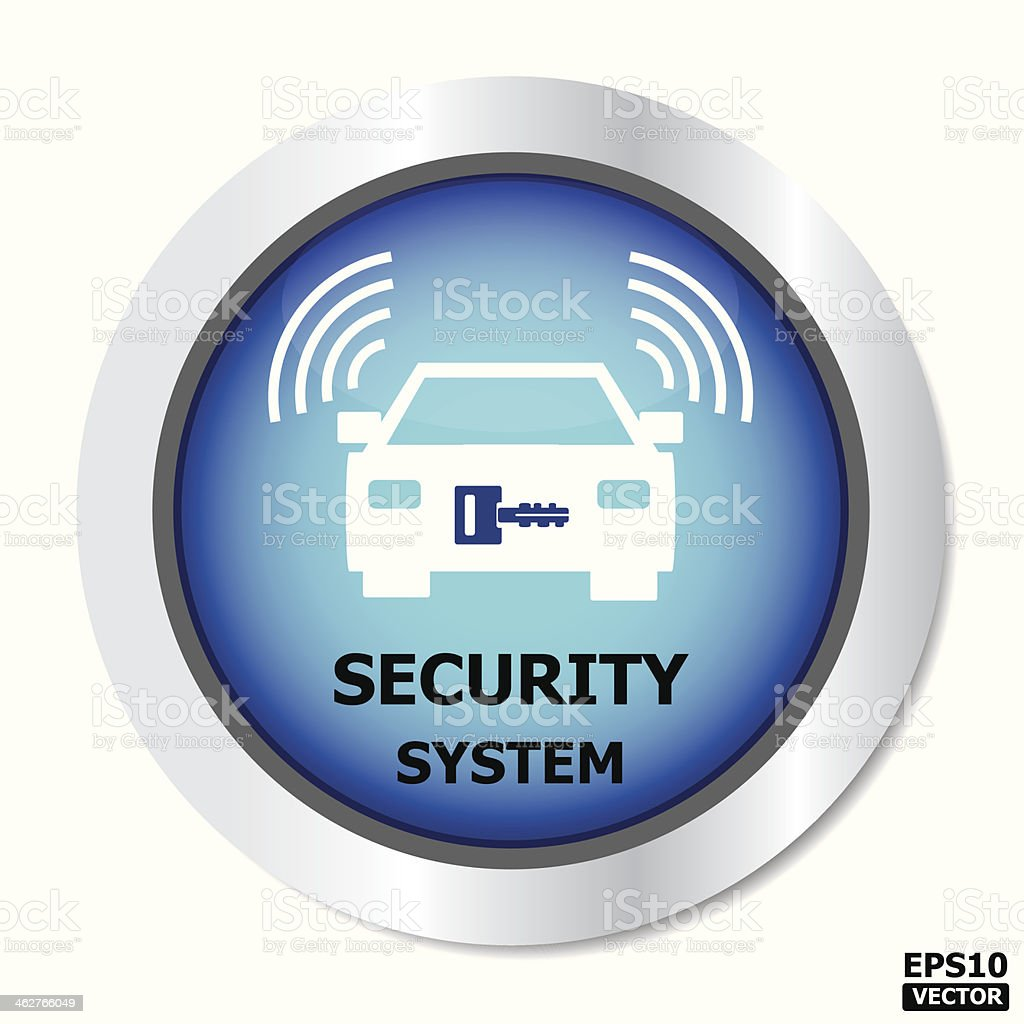 Security system button. royalty-free stock vector art