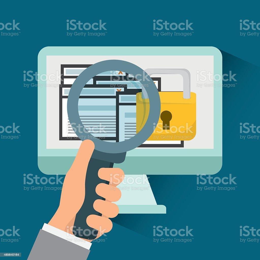 Security system design. vector art illustration