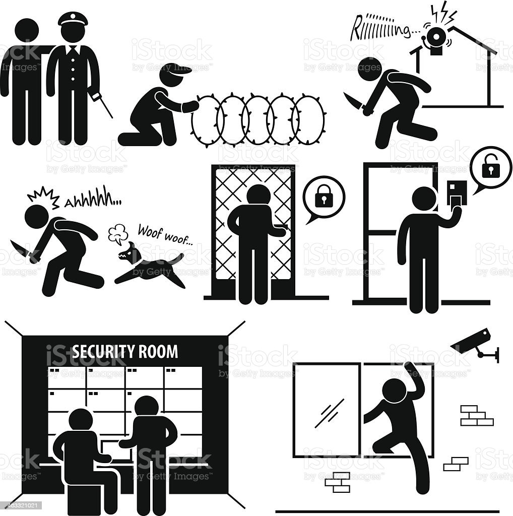 Security System vector art illustration