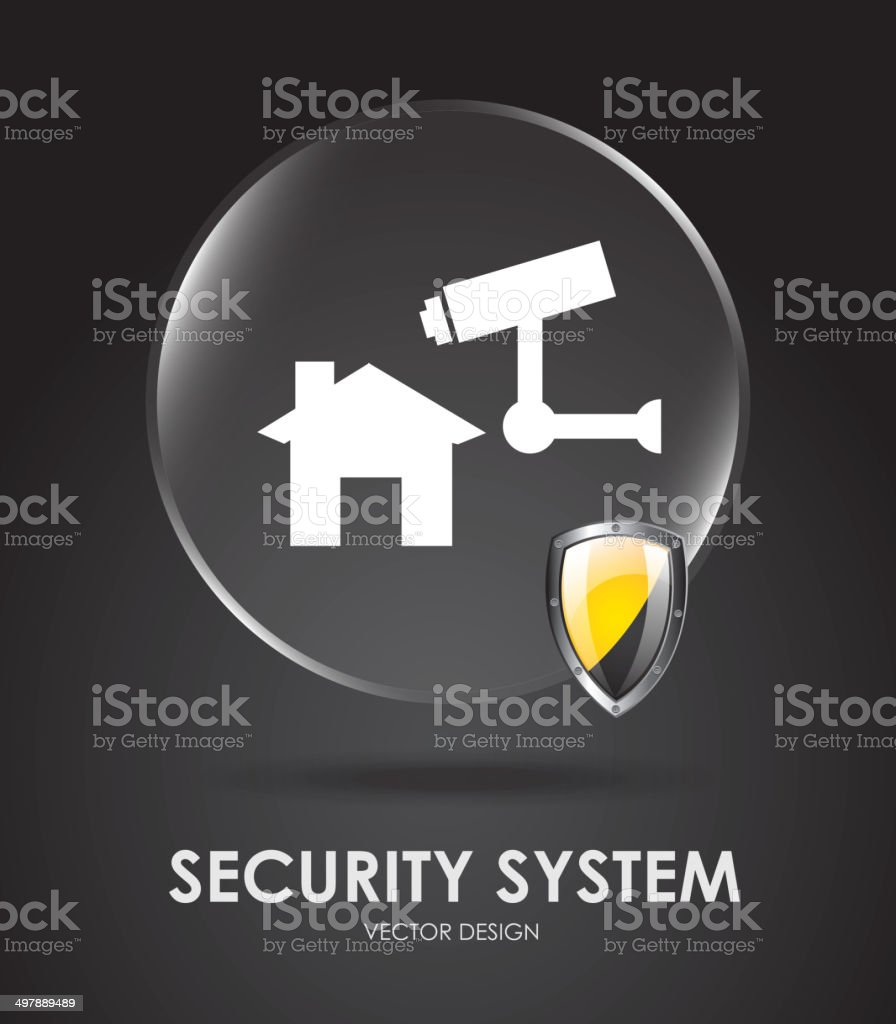 security system royalty-free stock vector art