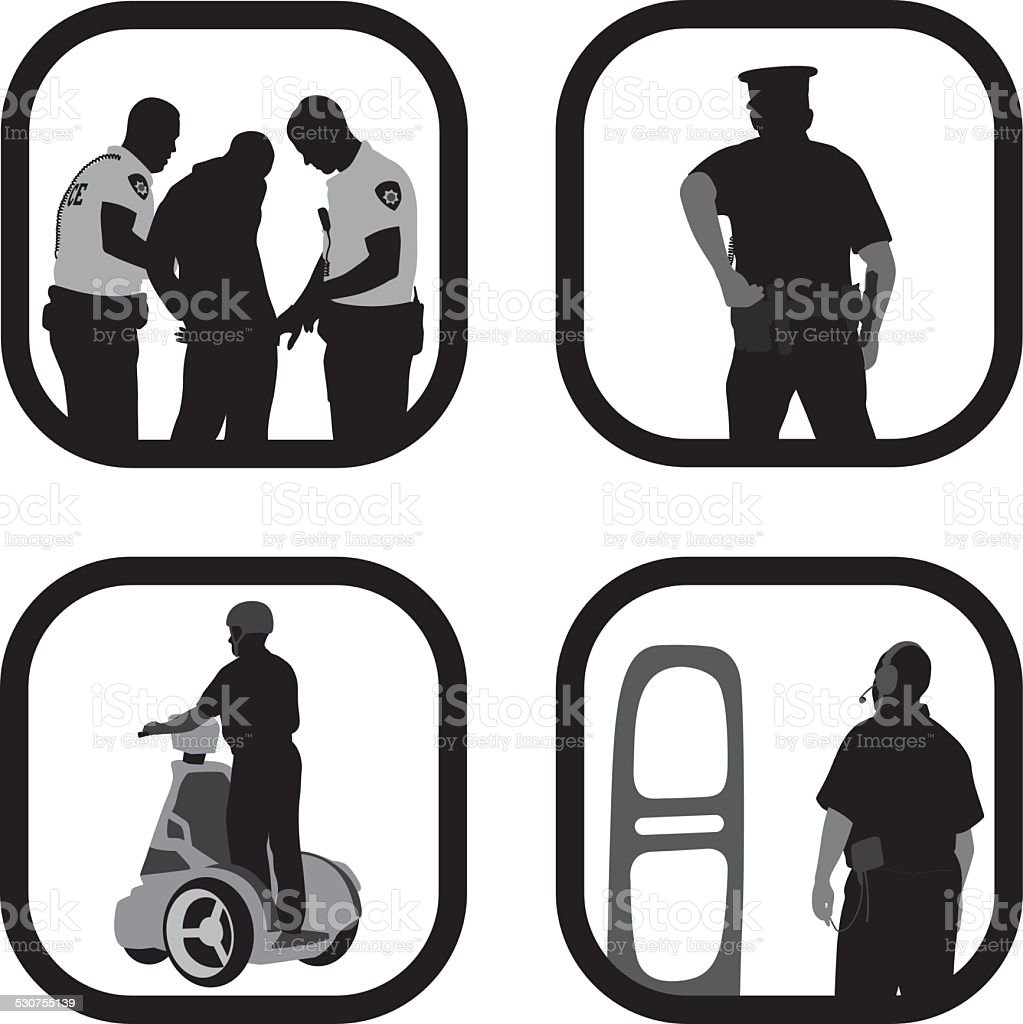 SecurityWorkers vector art illustration