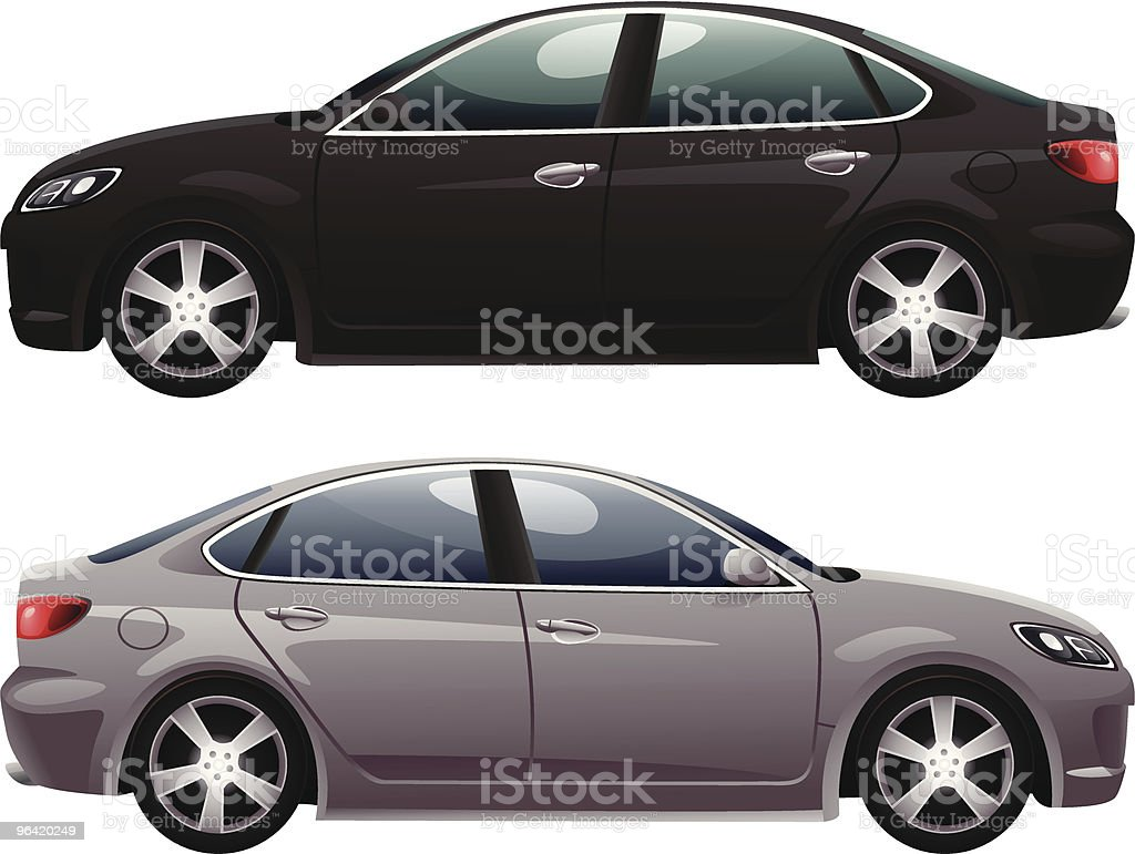 Sedan vector art illustration