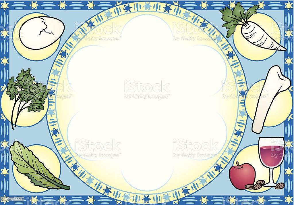 Seder Plate Mortice C vector art illustration