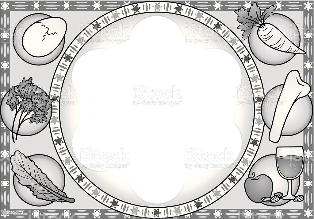 Seder Plate Mortice vector art illustration