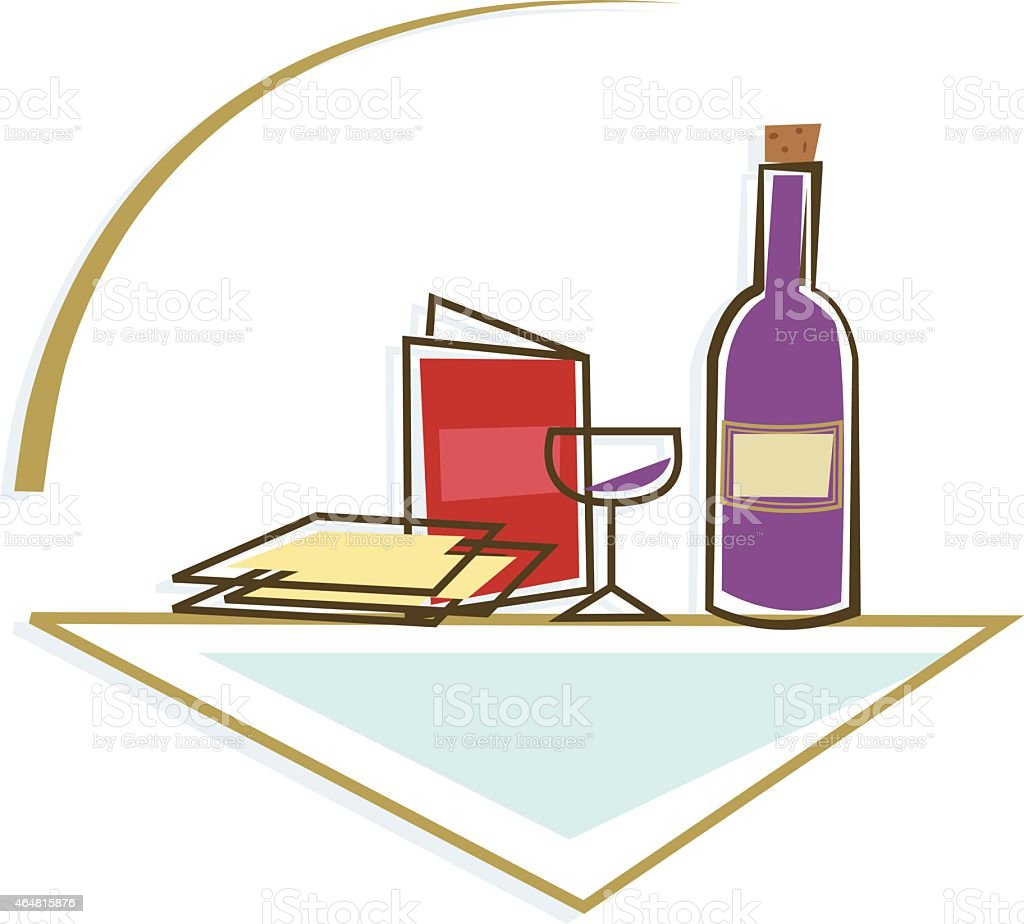 Seder Table Icon vector art illustration