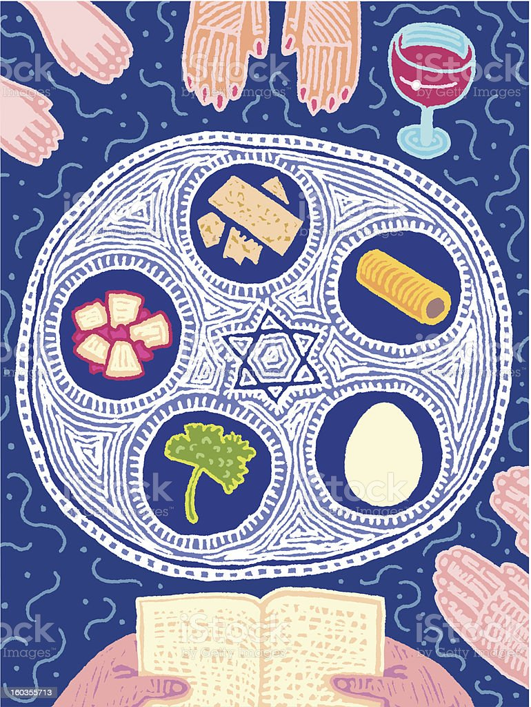 Seder vector art illustration