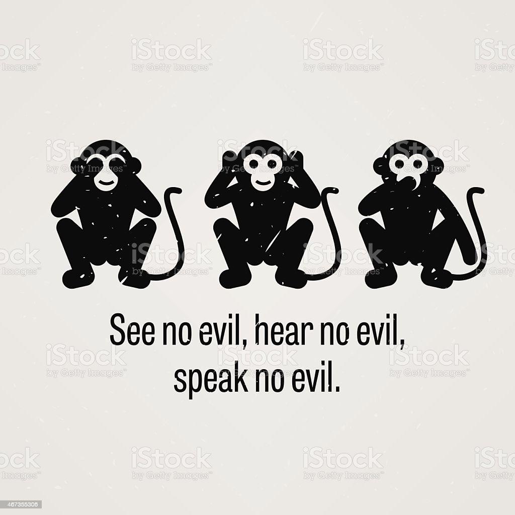 Hear no evil see no evil speak no evil clip art
