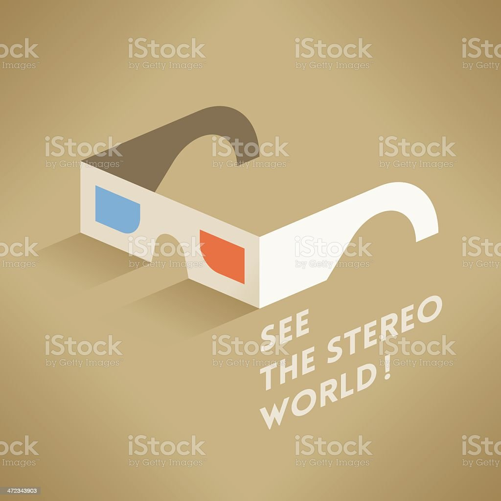 See the Stereo World! royalty-free stock vector art