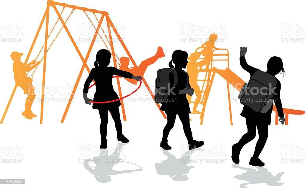 See You At School Tomorrow vector art illustration