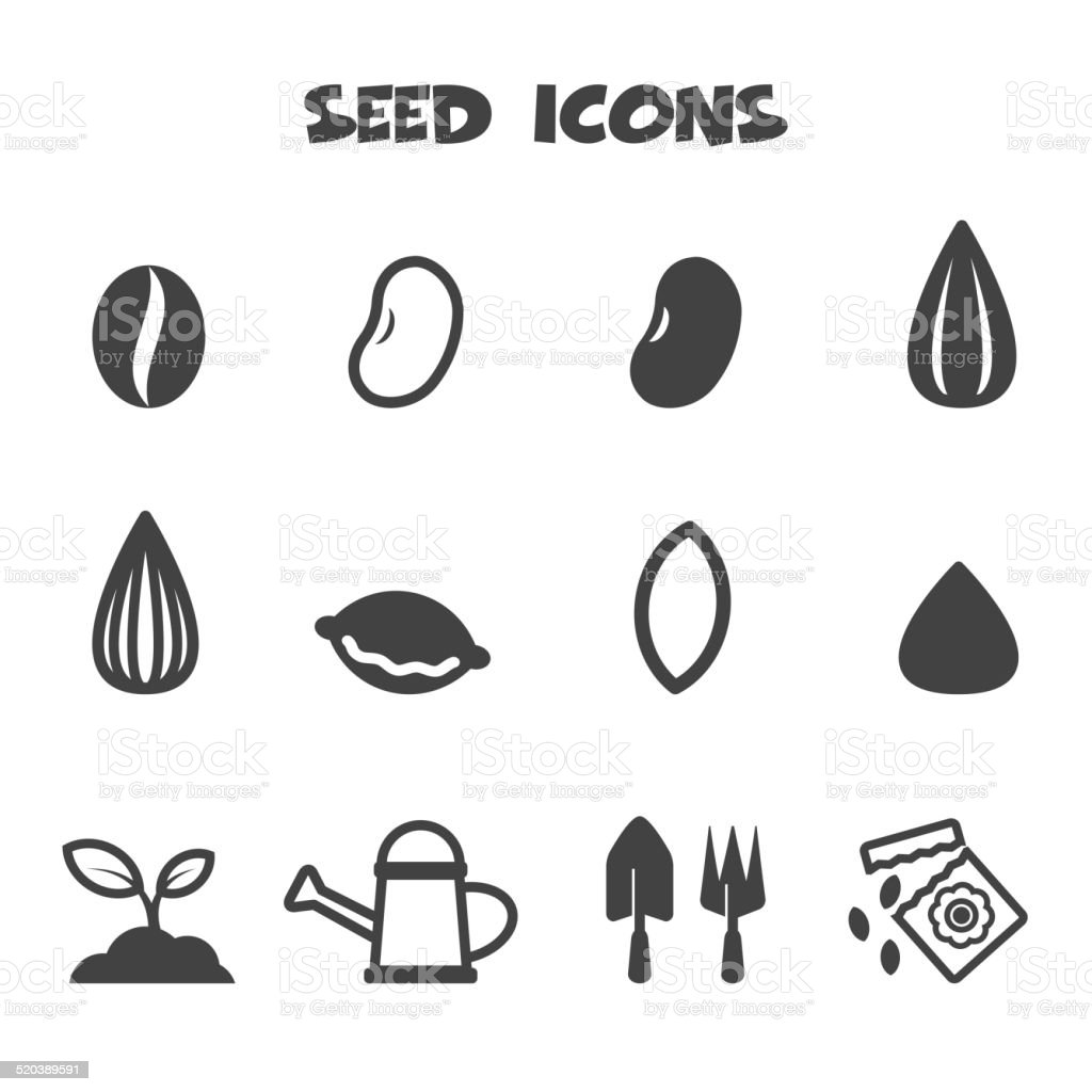 seed icons vector art illustration