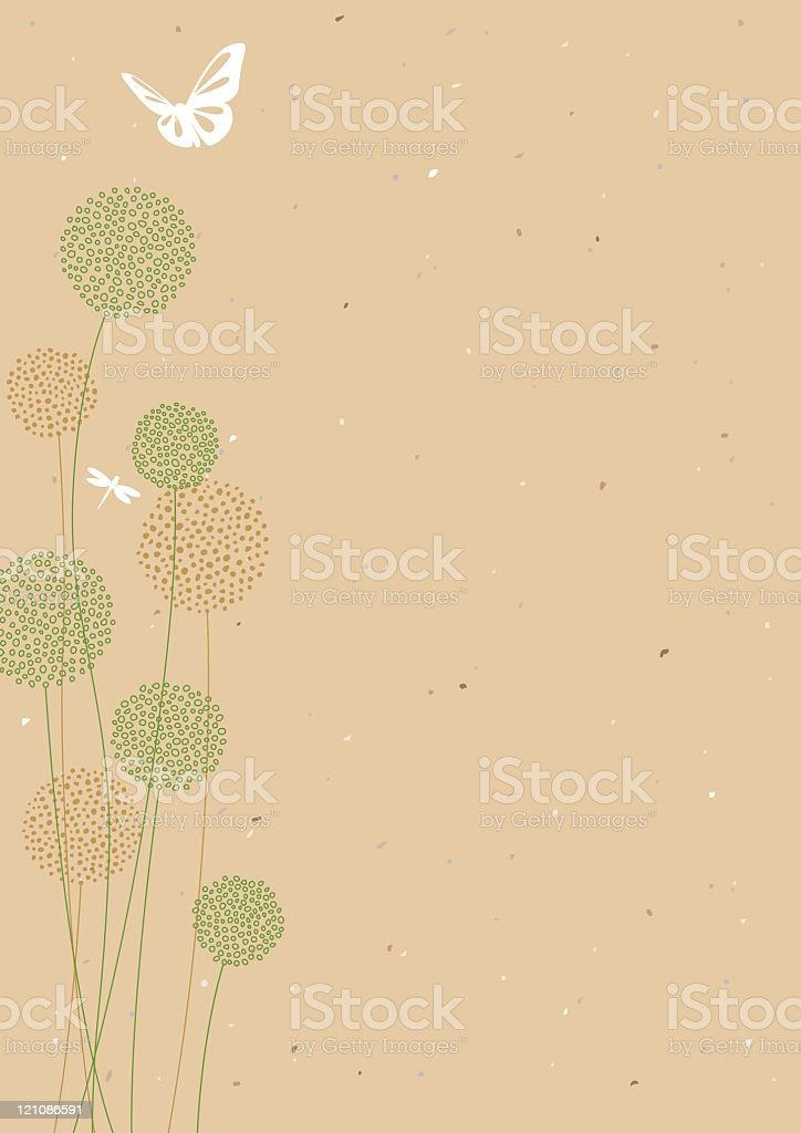 Seed pods on a natural background royalty-free stock vector art