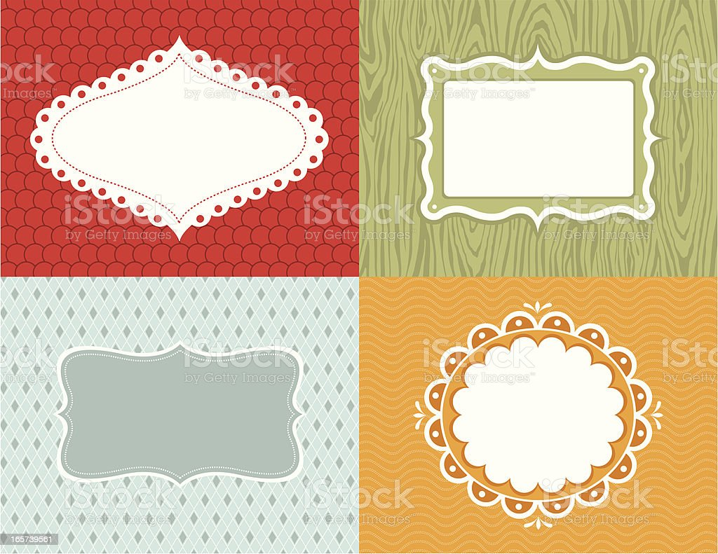 Seeing a Pattern 1 (Labels) royalty-free stock vector art