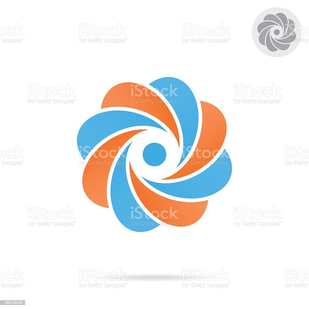 Segmented circle - o letter concept vector art illustration