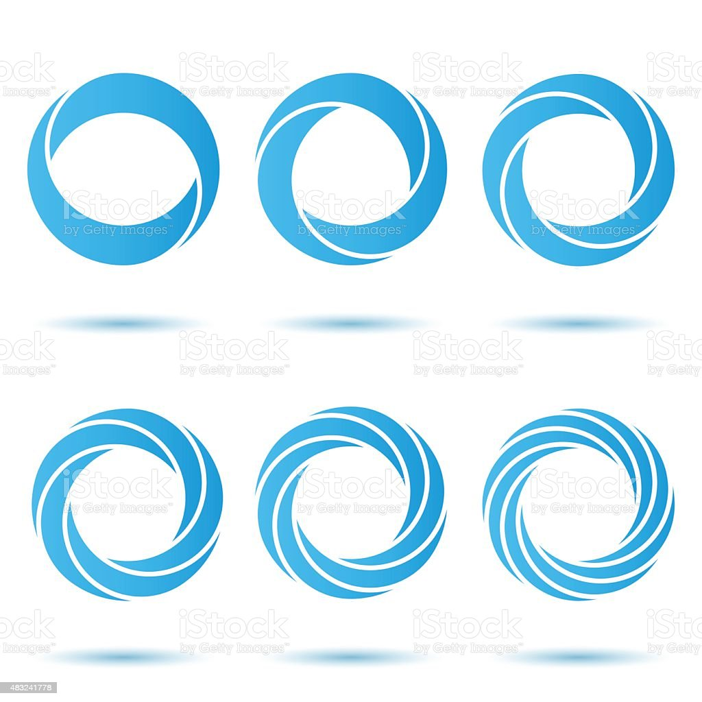 Segmented o letter set vector art illustration