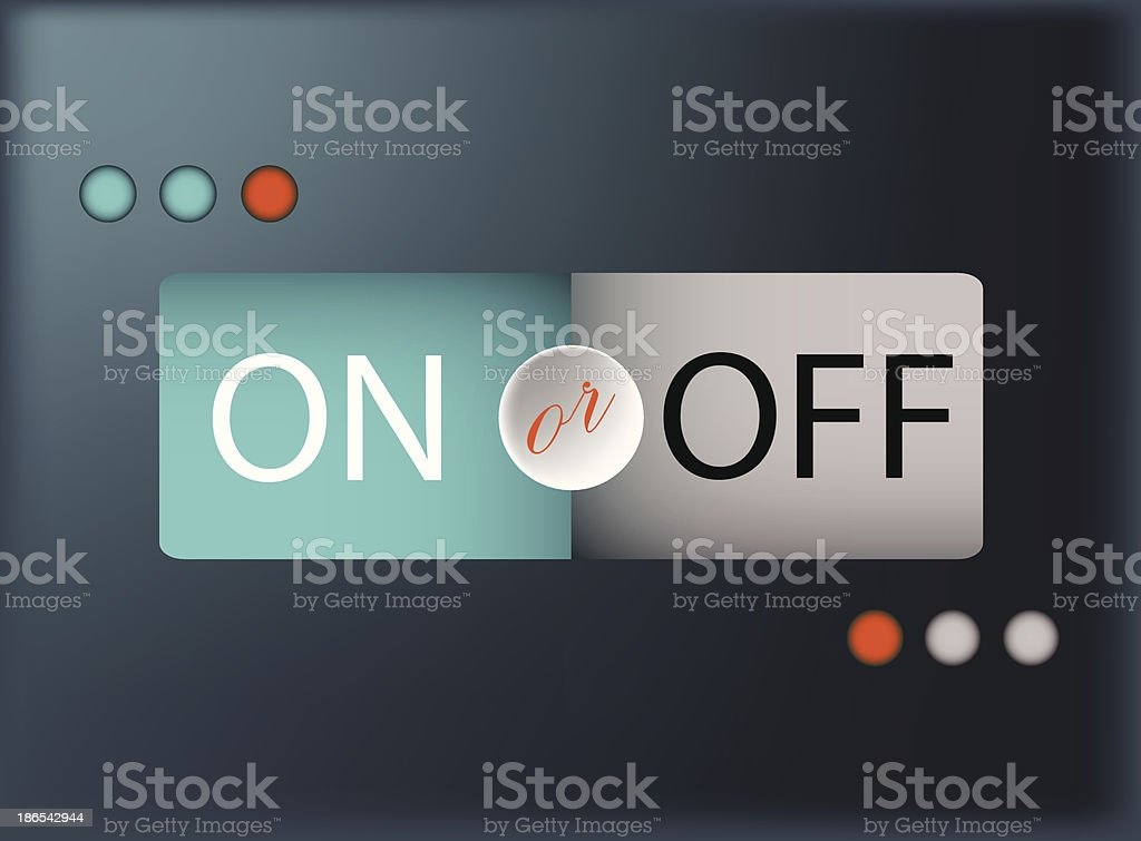 Segmented ON or OFF Button royalty-free stock vector art