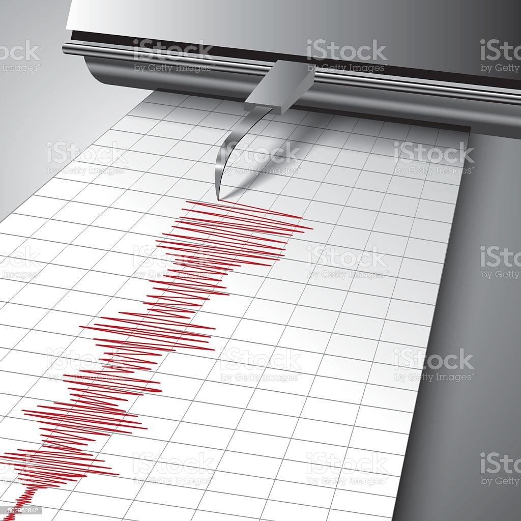 Seismograph chart vector art illustration