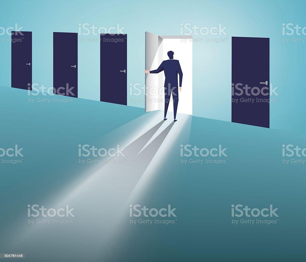 Select the door vector art illustration