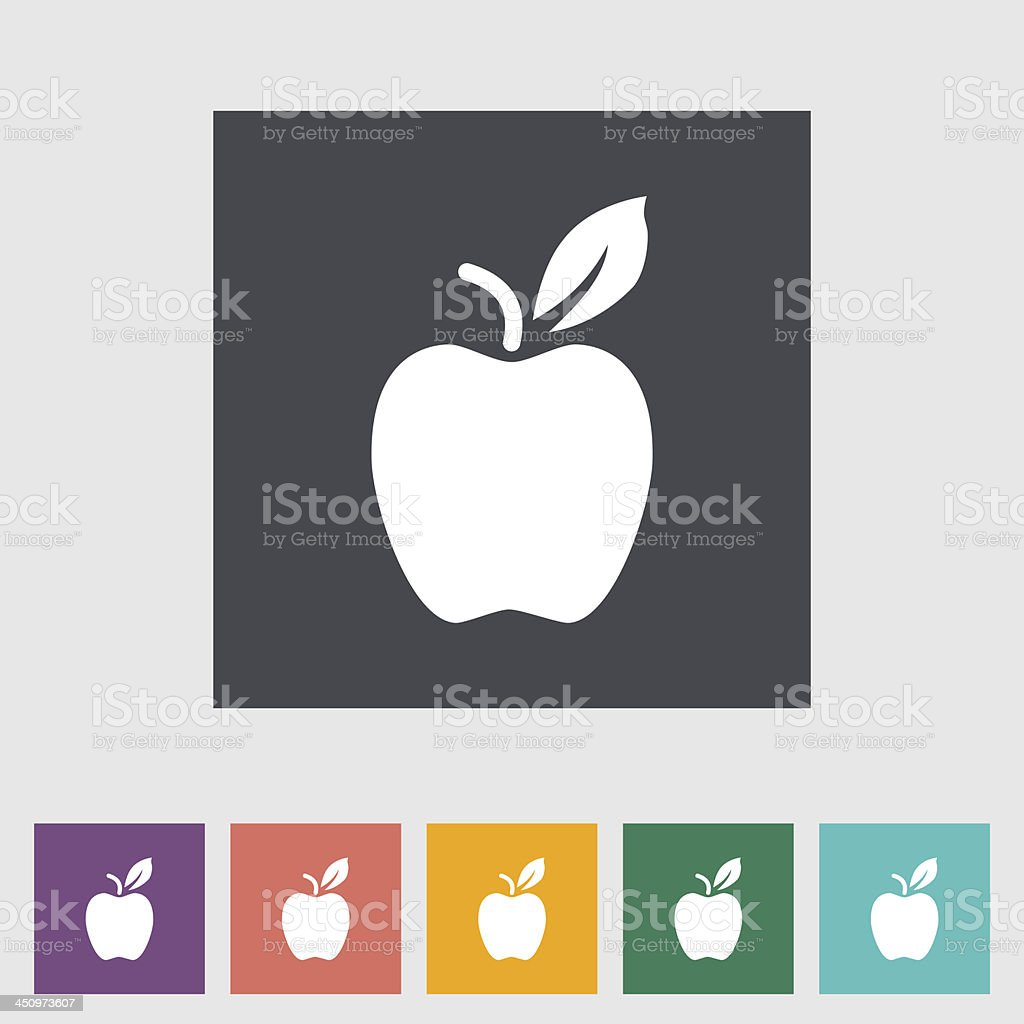 Selection of colored Apple icons royalty-free stock vector art