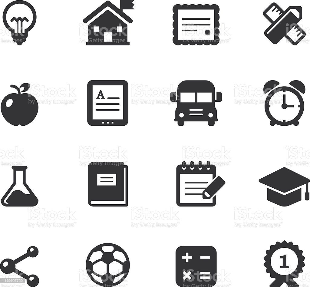 Selection of different types of education icons royalty-free stock vector art