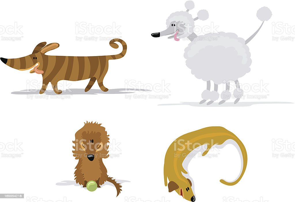Selection of vector dogs royalty-free stock vector art