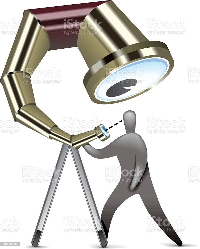 Self Assessment Telescope royalty-free stock vector art