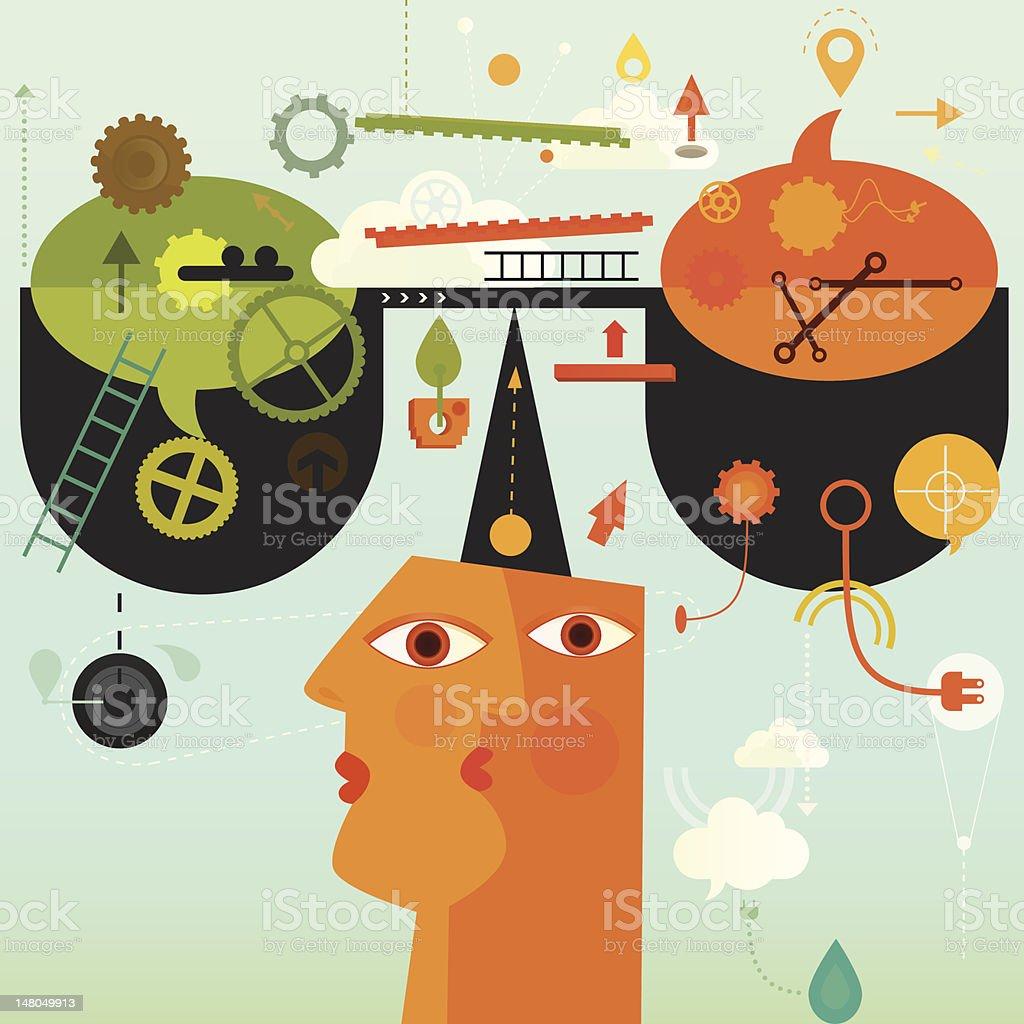 Self Control vector art illustration