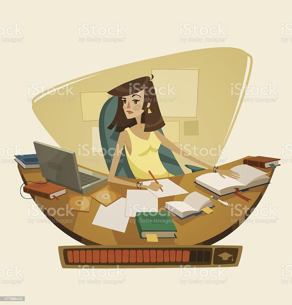 Self education. Vector illustration. royalty-free stock vector art