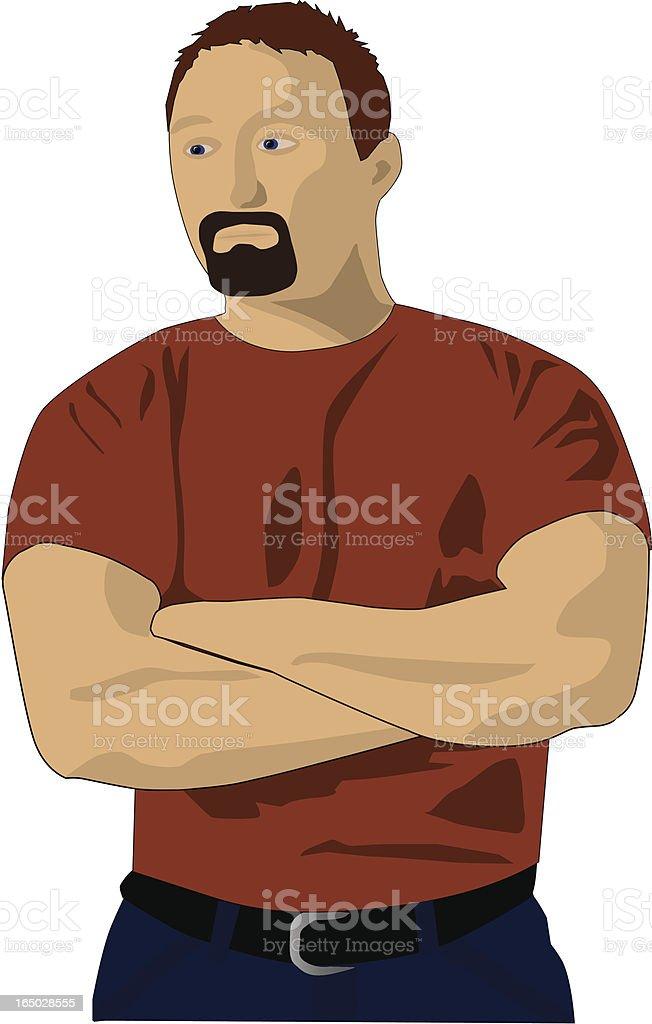 self portrait - vector royalty-free stock vector art
