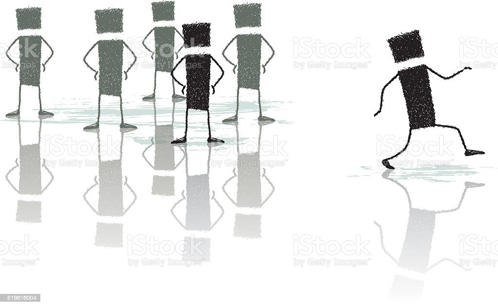 Self-confident vector art illustration