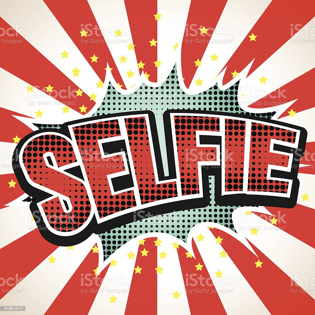 Selfie Comic Speech  Bubble. Vector illustration vector art illustration