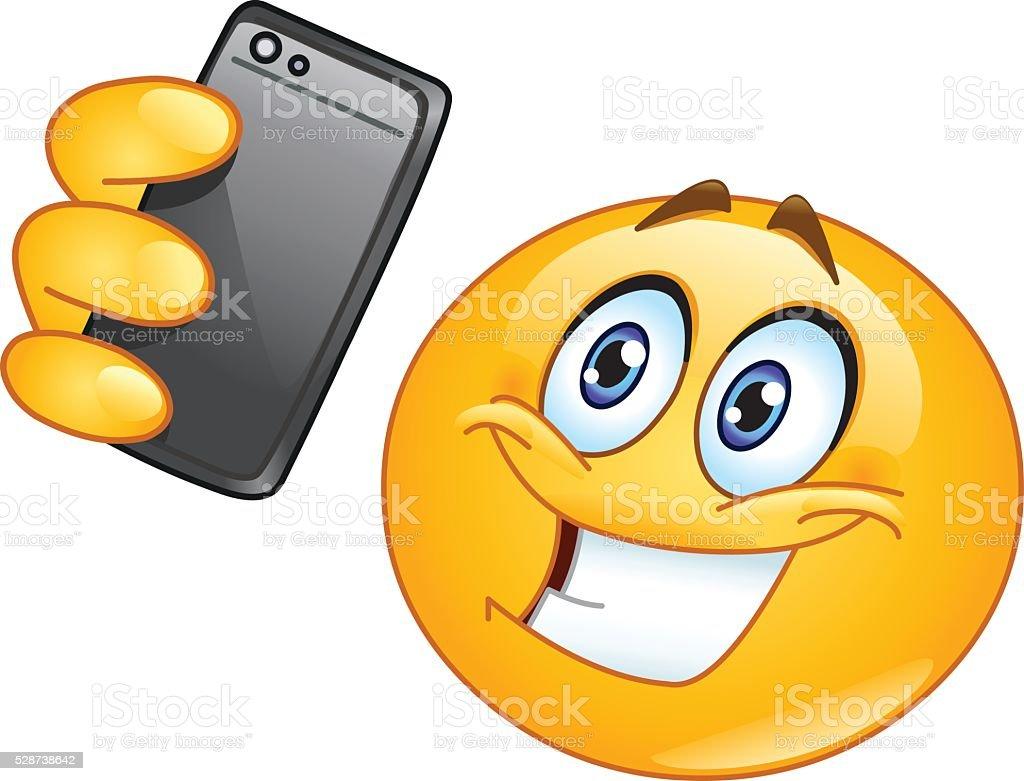 Selfie emoji vector art illustration